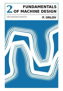 FUNDAMENTALS OF MACHINE DESIGN ORLOV VOL 2_0000